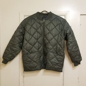 Jordan Craig green XL Bomber flight jacket